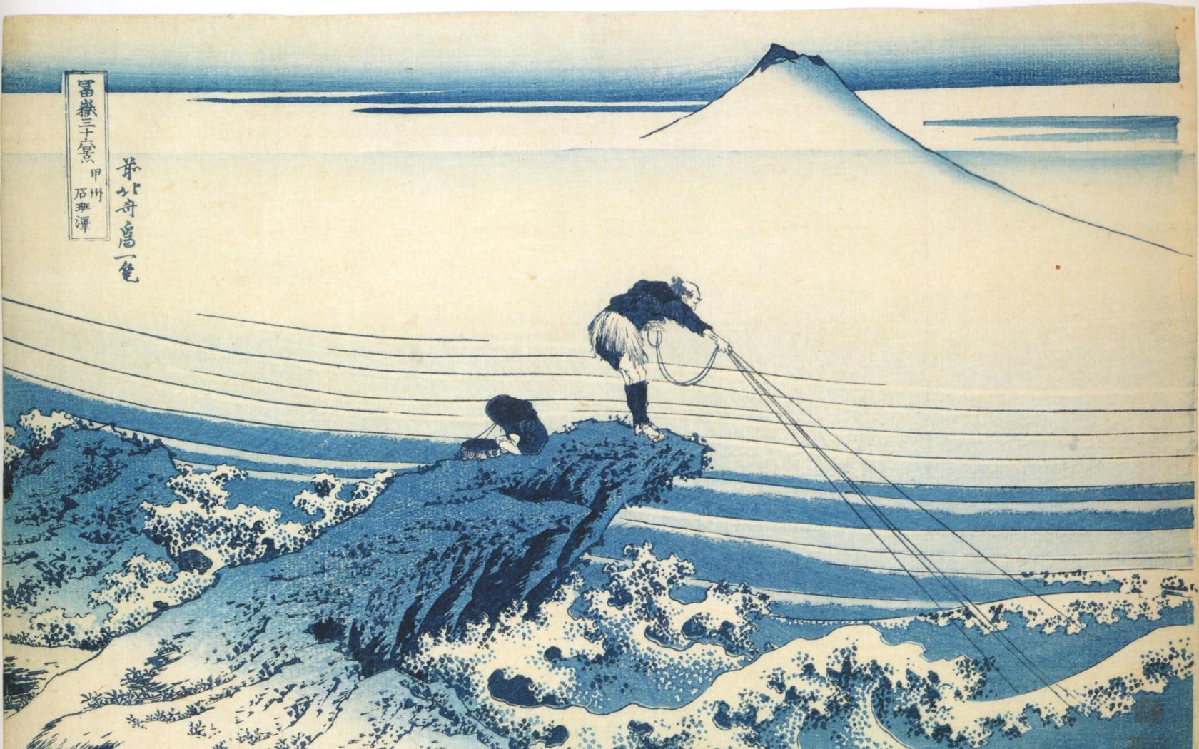 katsushika hokusai thirtysix views of mount fuji 5000x3500 wallpaper 1680x1050