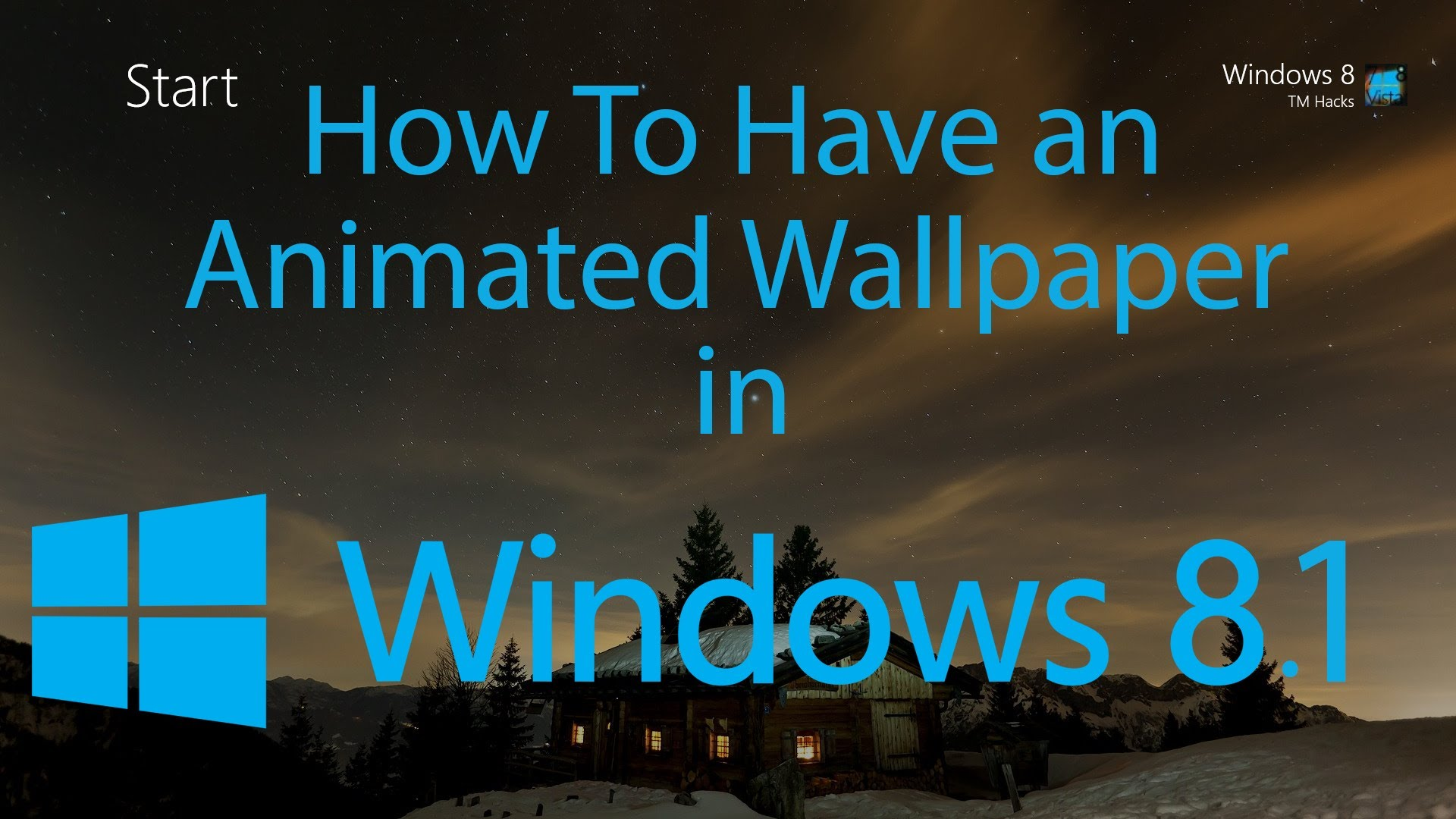 how to have an animated wallpaper in windows 8 1 youtube