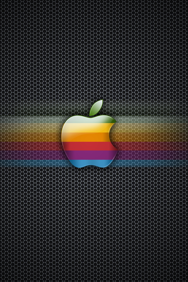 Apple Original Glossy Logo iPhone wallpapers iPhone 4   iPhone 640x960