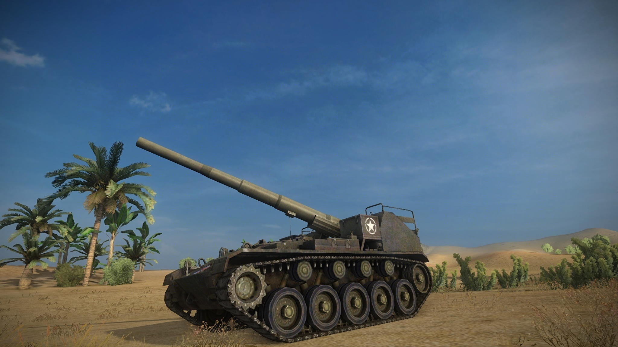 World of Tanks SPG Sky m4Games 3D Graphics wallpapers Collection 2048x1152