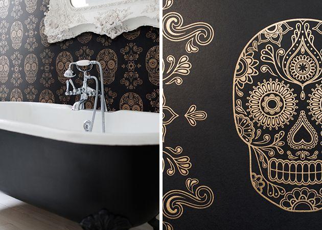 Sugar Skull Wallpaper home and decor dreams Pinterest 630x450