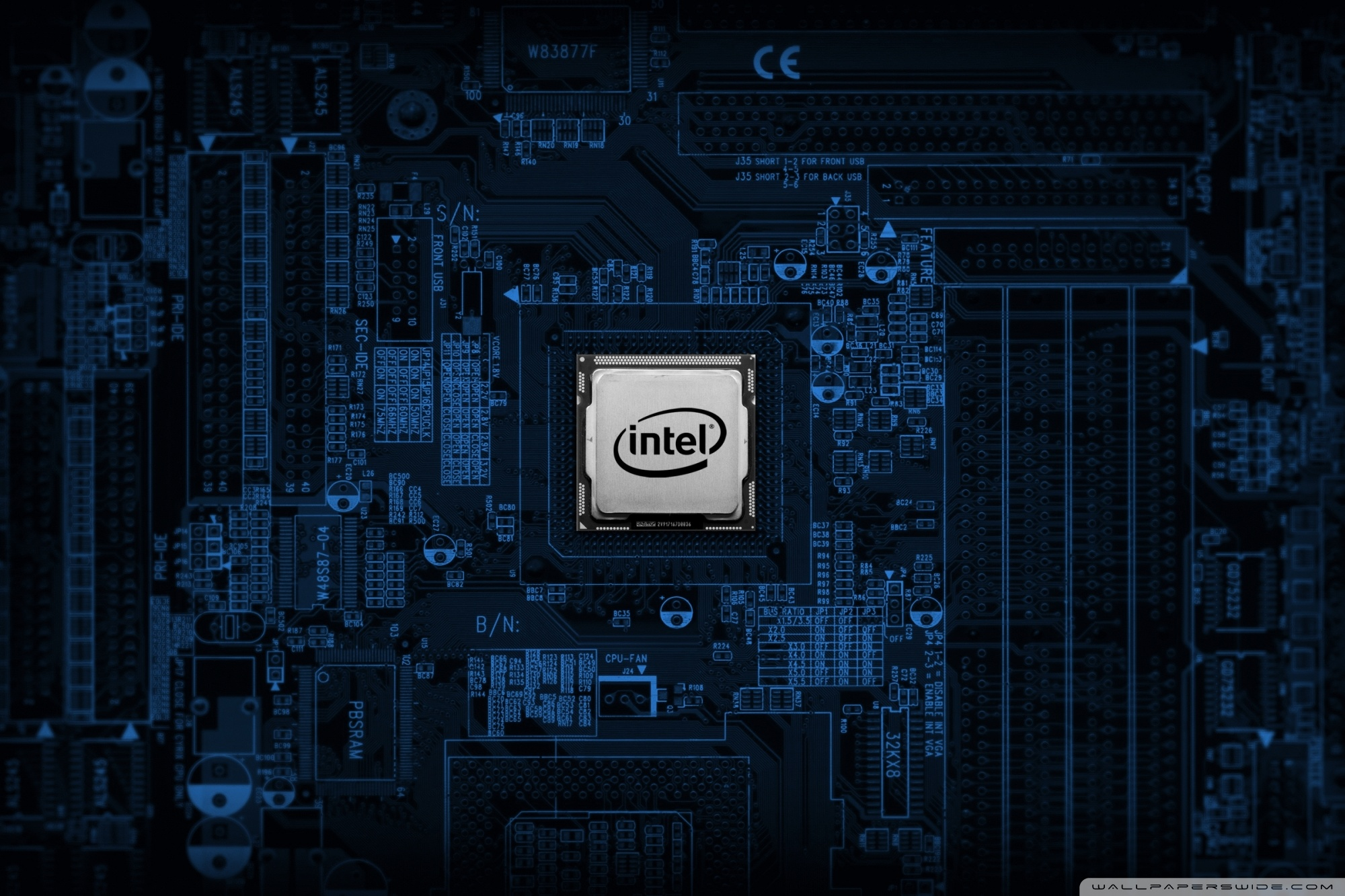 Intel Motherboard 4K HD Desktop Wallpaper for 4K Ultra HD TV 2000x1333