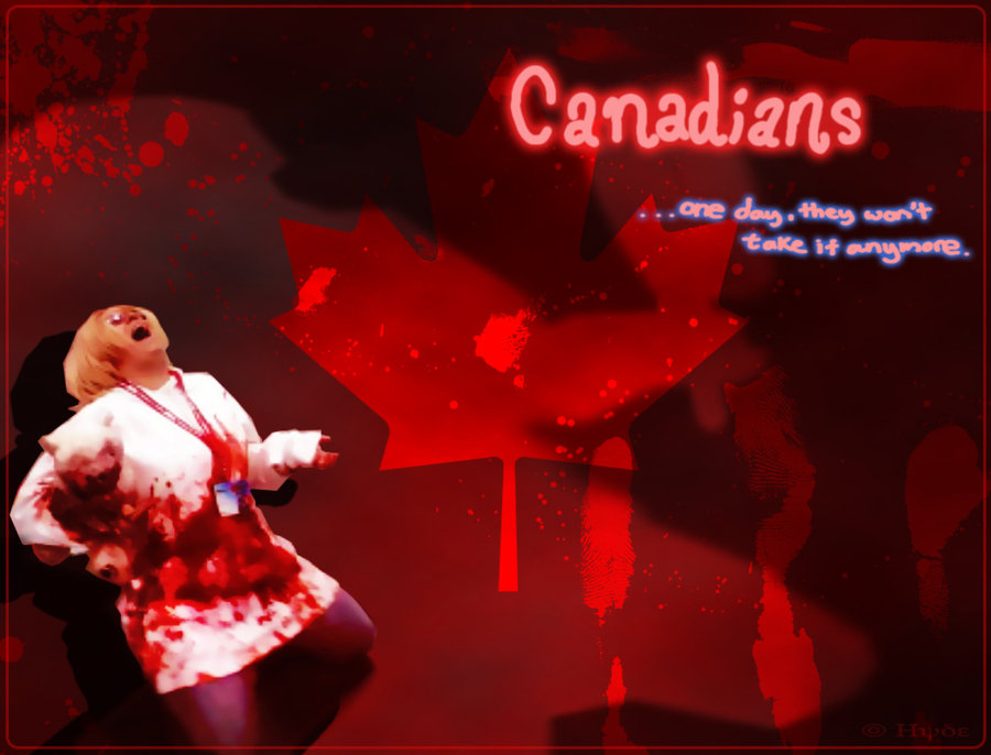 APH Crazy Canadian Wallpaper by PuppetmasterHyde on deviantART 900x686