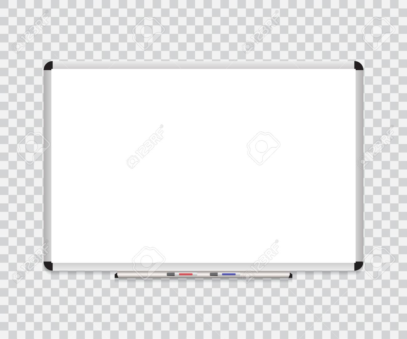 Whiteboard Background Frame With Eraser Whiteboard Color Markers 1300x1083