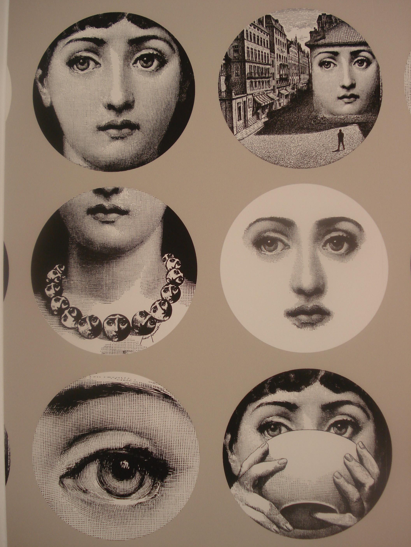 Fornasetti faces wallpaper wallpapersafari - Fornasetti faces wallpaper ...