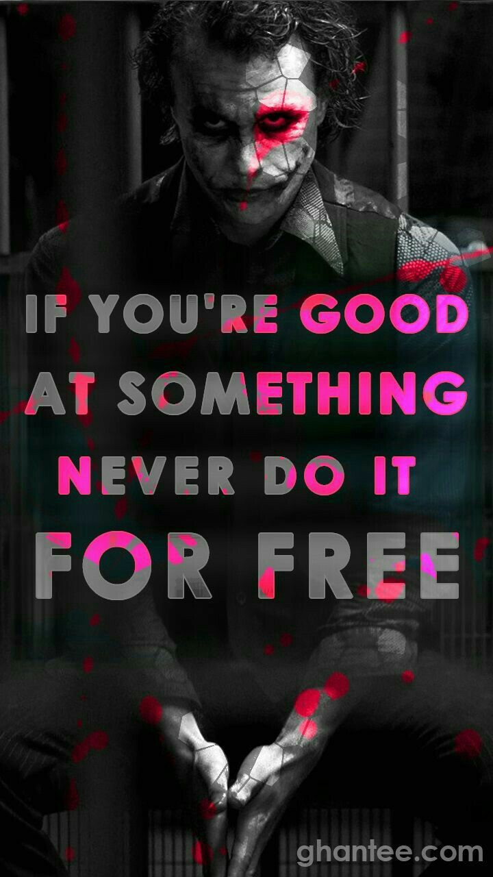 Follow us for more Joker quotes Joker wallpapers Villain quote 720x1280