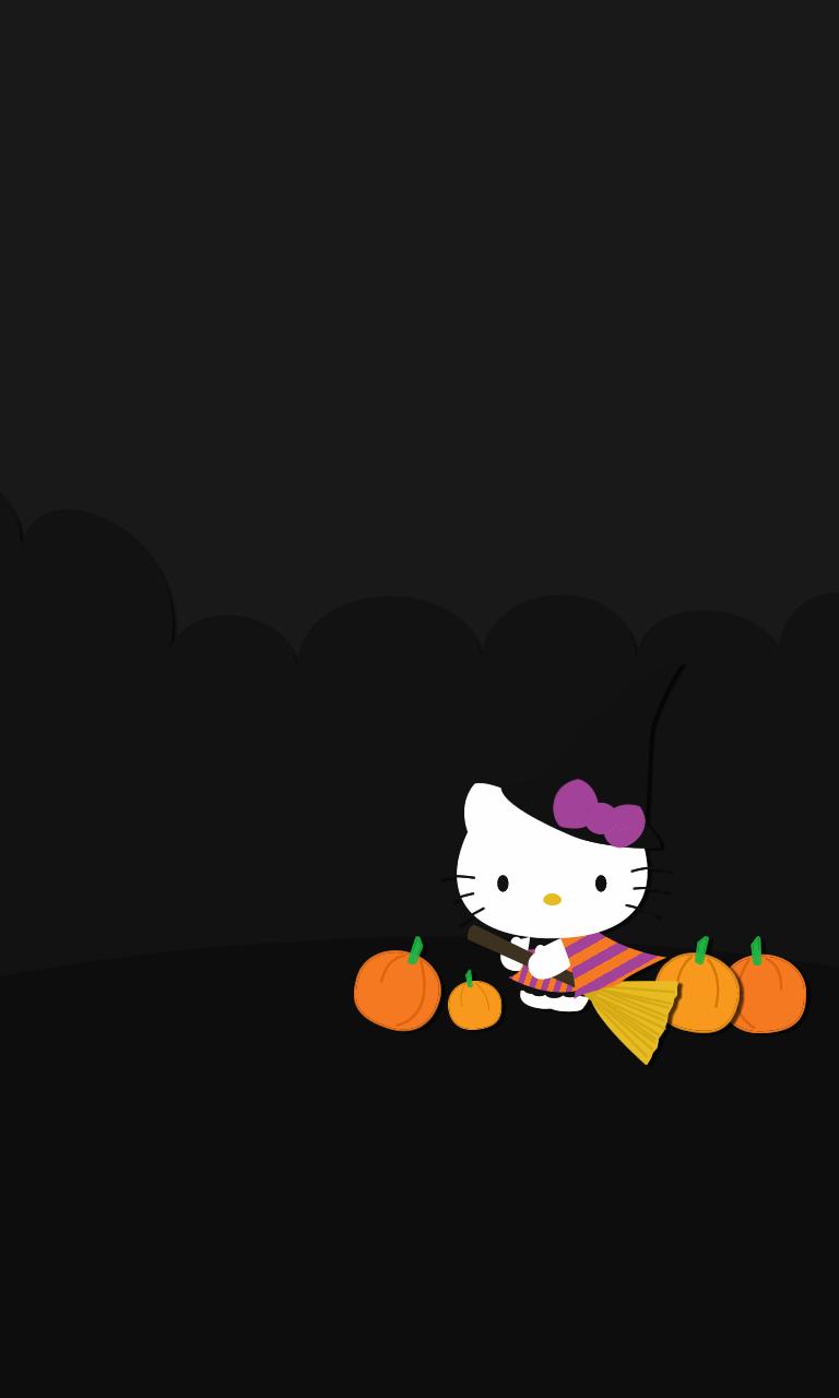 Halloween hello kitty wallpaper wallpapersafari - Hello kitty halloween ...