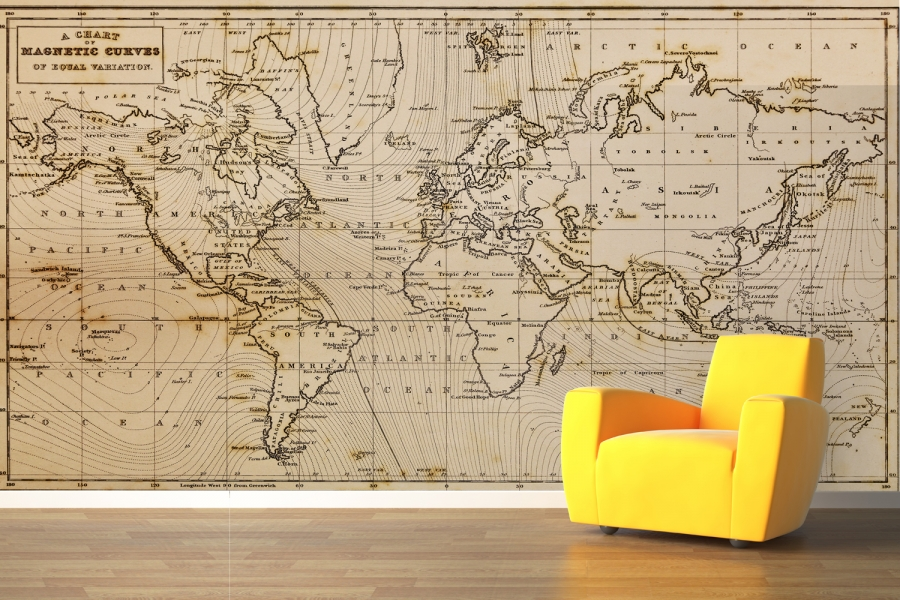 Map Wallpaper Mural WallpaperSafari