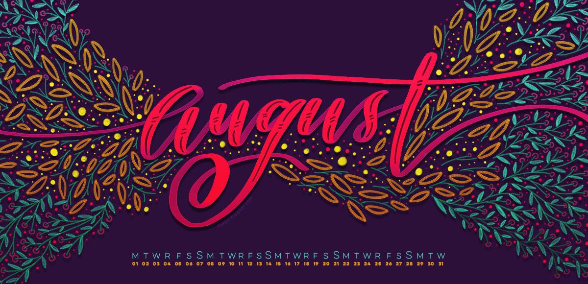 Freebie August 2016 Desktop Wallpapers   Every Tuesday 1200x580