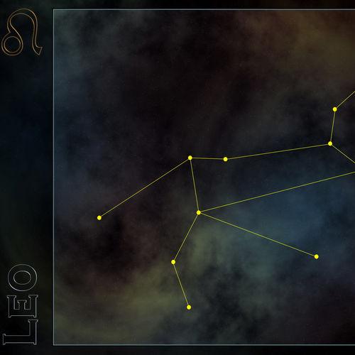 HD Leo Constellation Wallpaper 500x500