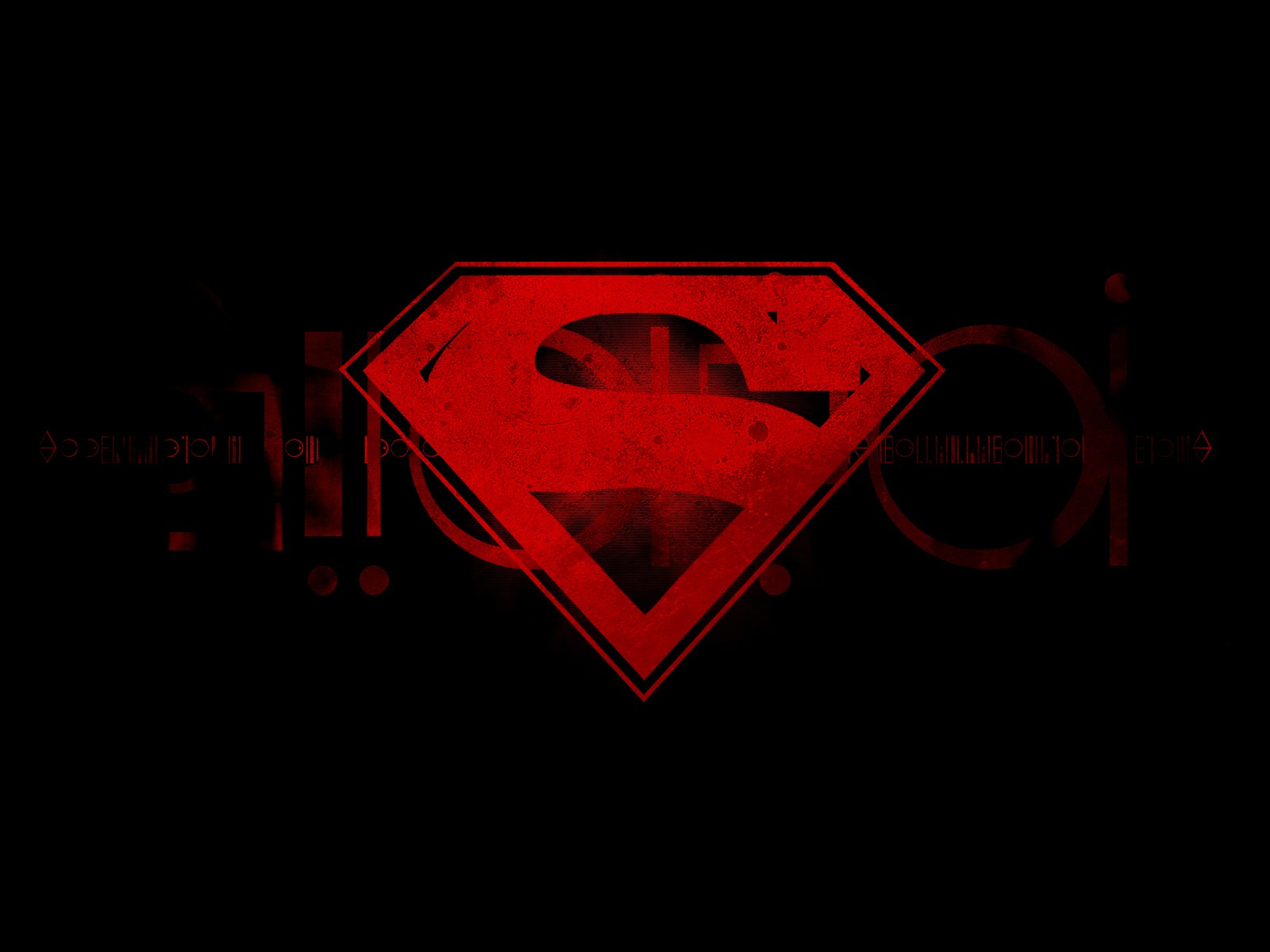 Comics superman logo black background abstract Logo 1600x1200