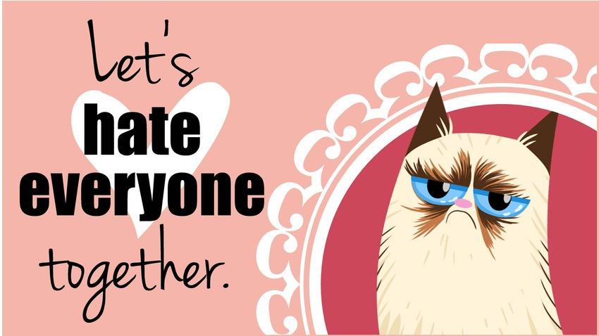 15 Grumpy Cat Valentine Attitude Cover Photos for Facebook 850x478