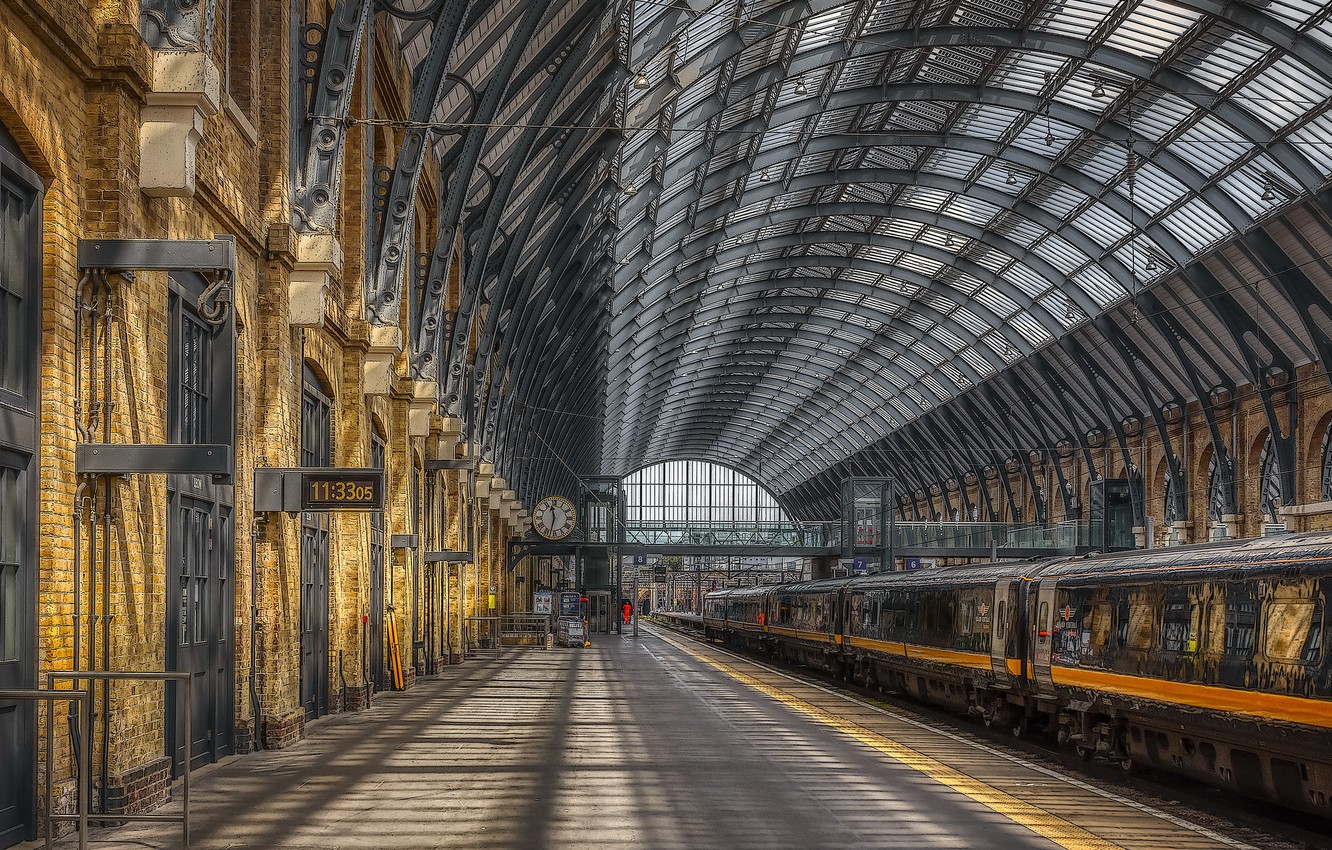 Wallpaper the city station England Camden Kings Cross images 1332x850