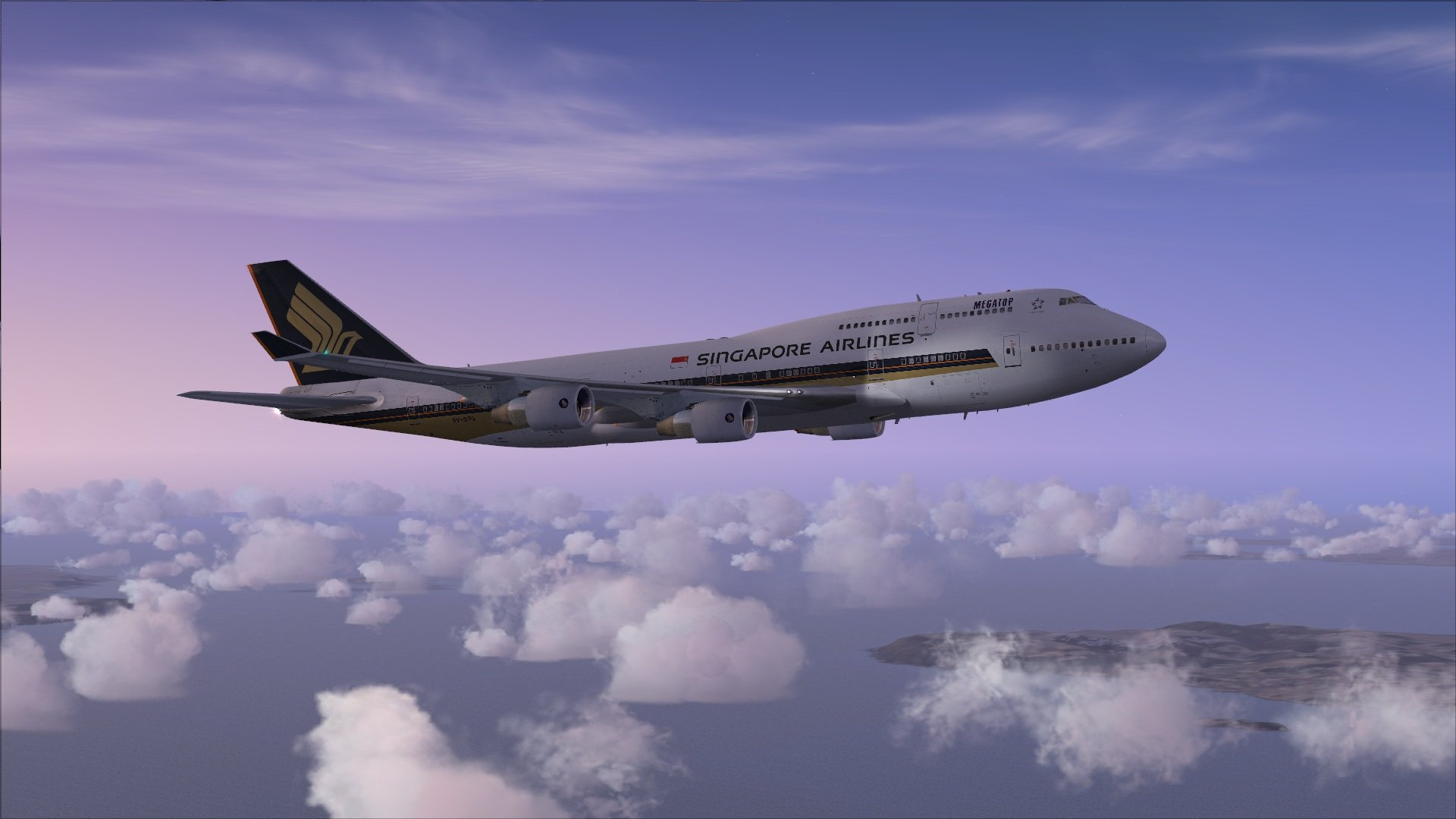 Singapore Airlines 747 Fsx wallpaper   776882 1920x1080
