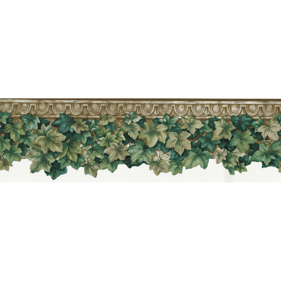 roth 6 12 Green Ivy Die Cut Prepasted Wallpaper Border at Lowescom 900x900