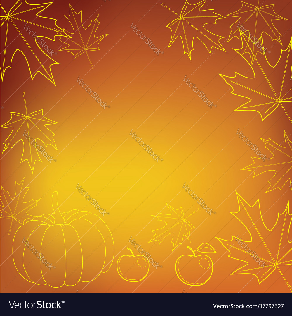 Bright orange background for thanksgiving day Vector Image 1000x1080