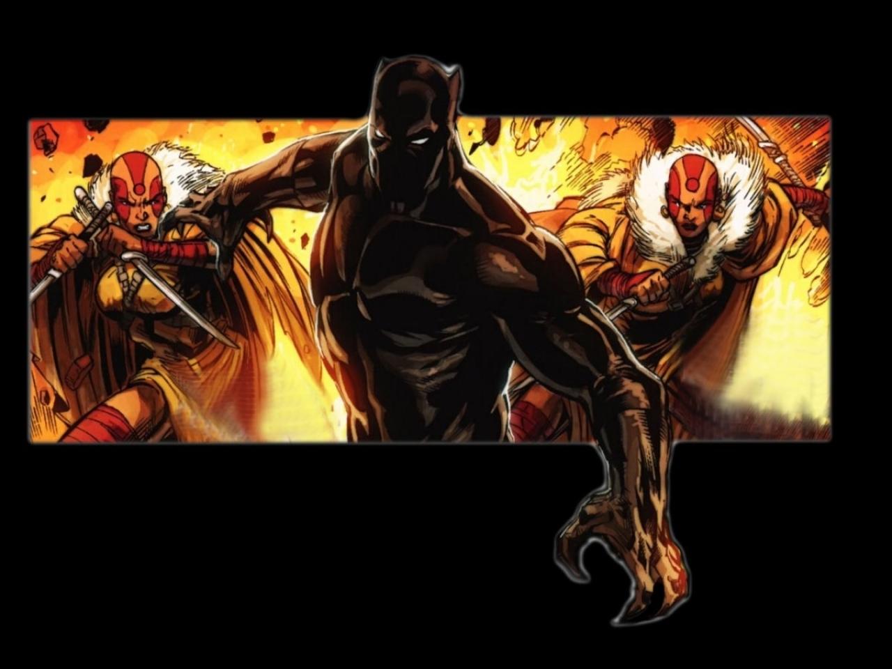 black panther comics marvel comics 1440x900 wallpaper Art HD Wallpaper 1280x960