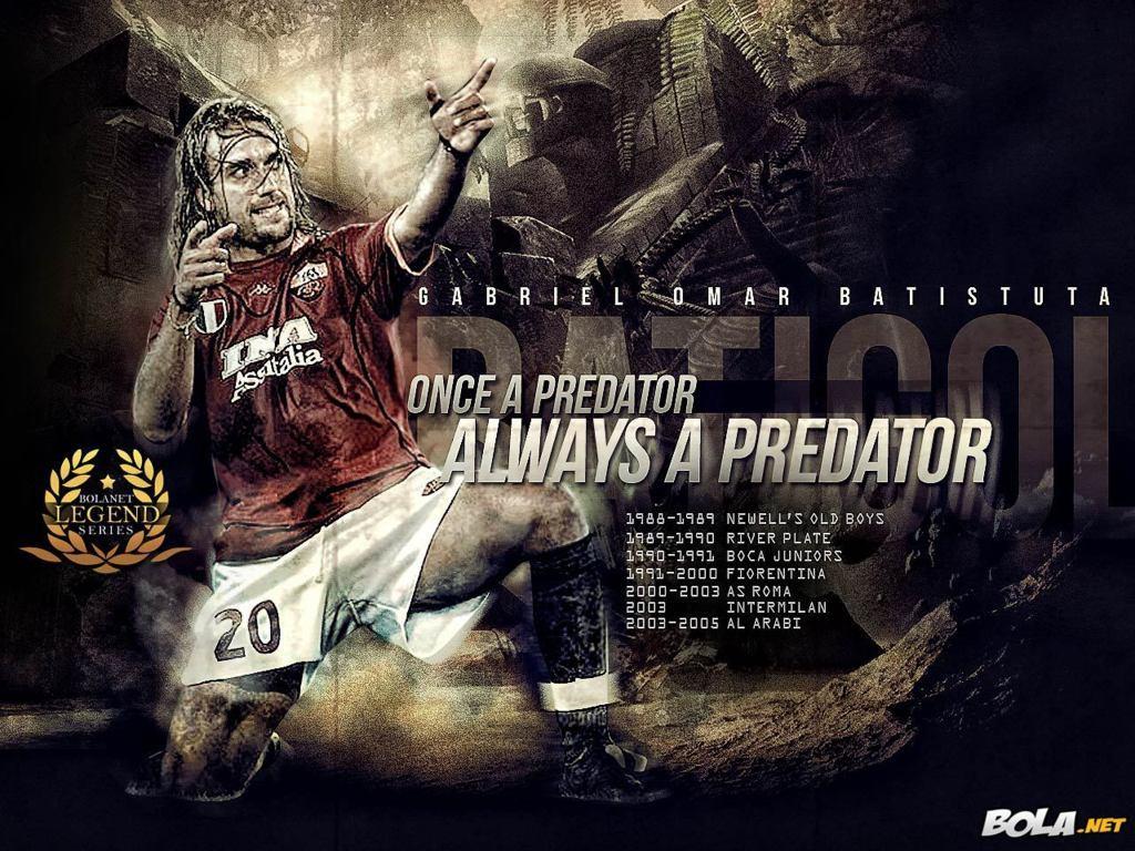 Gabriel Omar Batistuta Wallpaper HD Football Wallpaper 1024x768