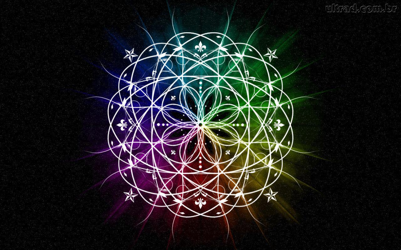 Papel de Parede Mandala Colorida 1280x800