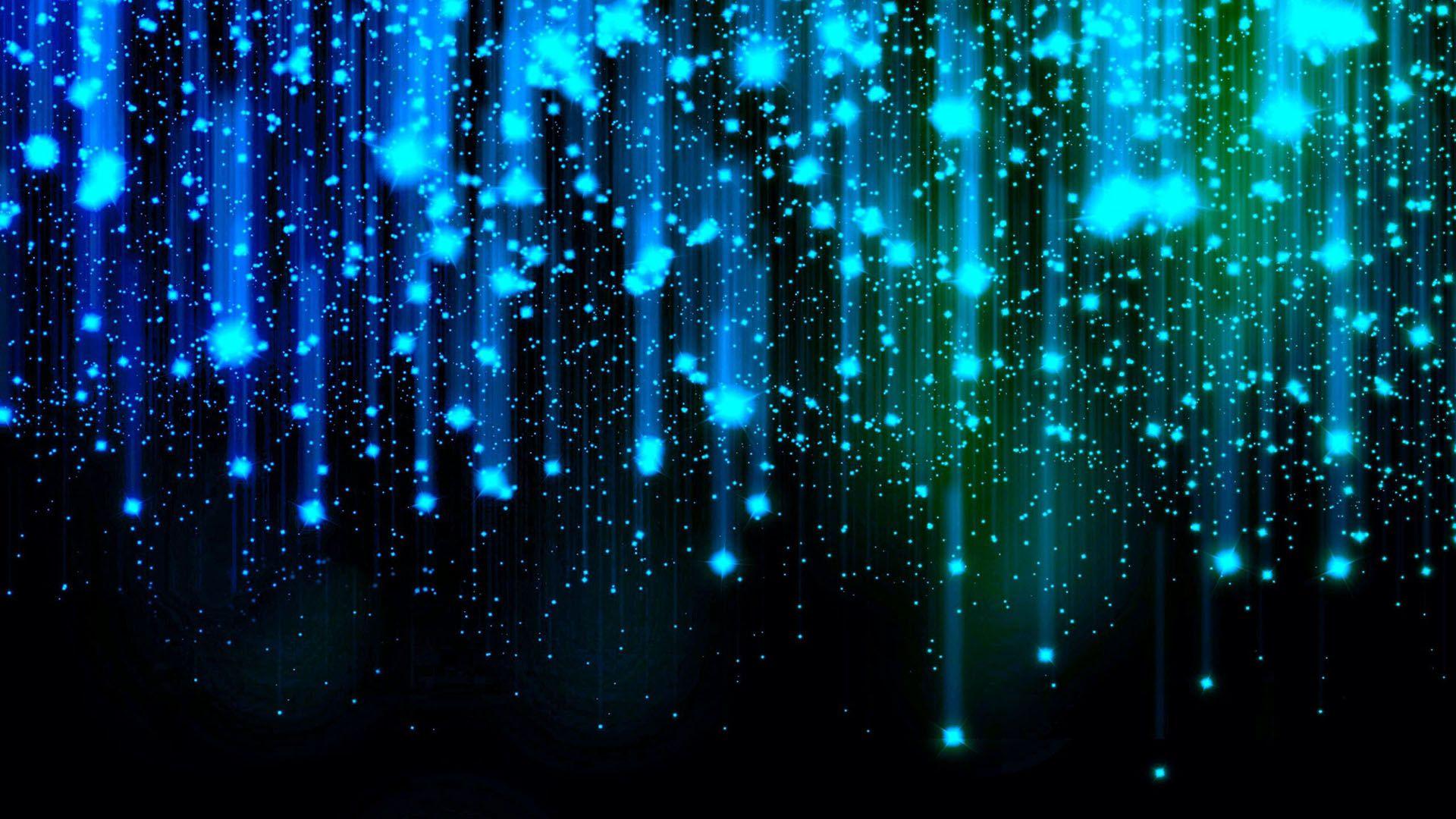 Blue and Green Falling Stars HD Wallpaper FullHDWpp   Full HD 1920x1080
