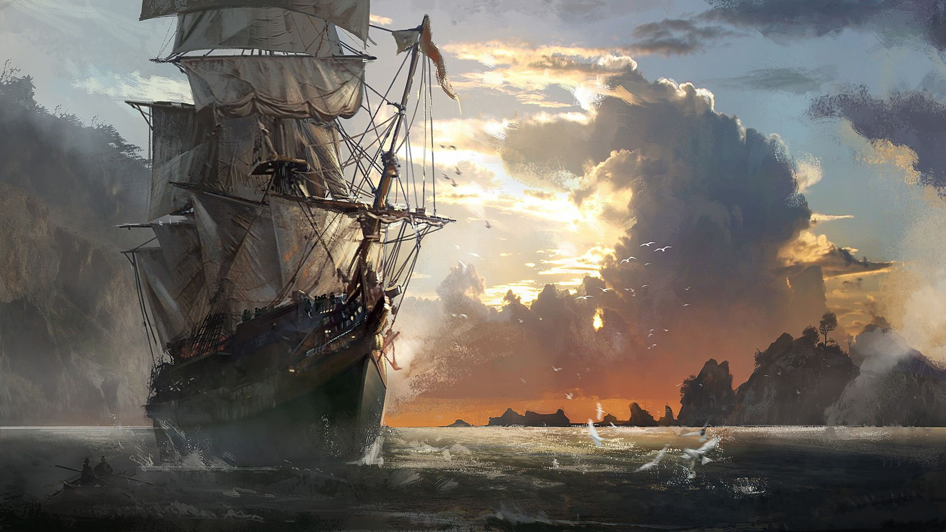 Ghost Pirate Ship Wallpapers Hd Pirates in 2019 Assassins 1920x1080