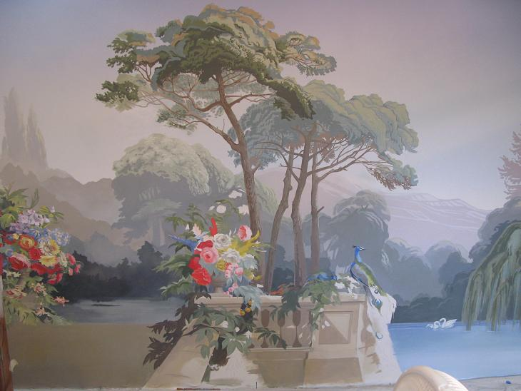 Free Download Mural Painting Ct Zuber Wallpaper Reproduction Part