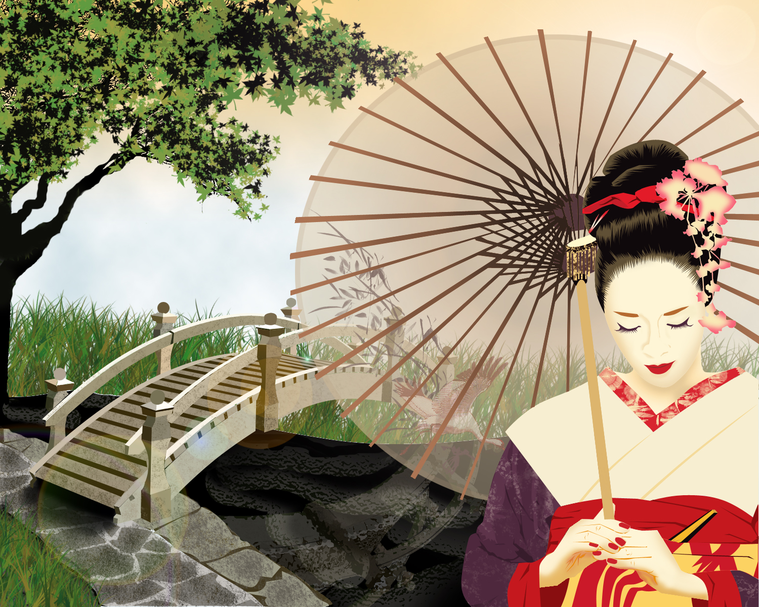 Japanese wallpapers Beautiful Geisha wallpapers 1500x1200