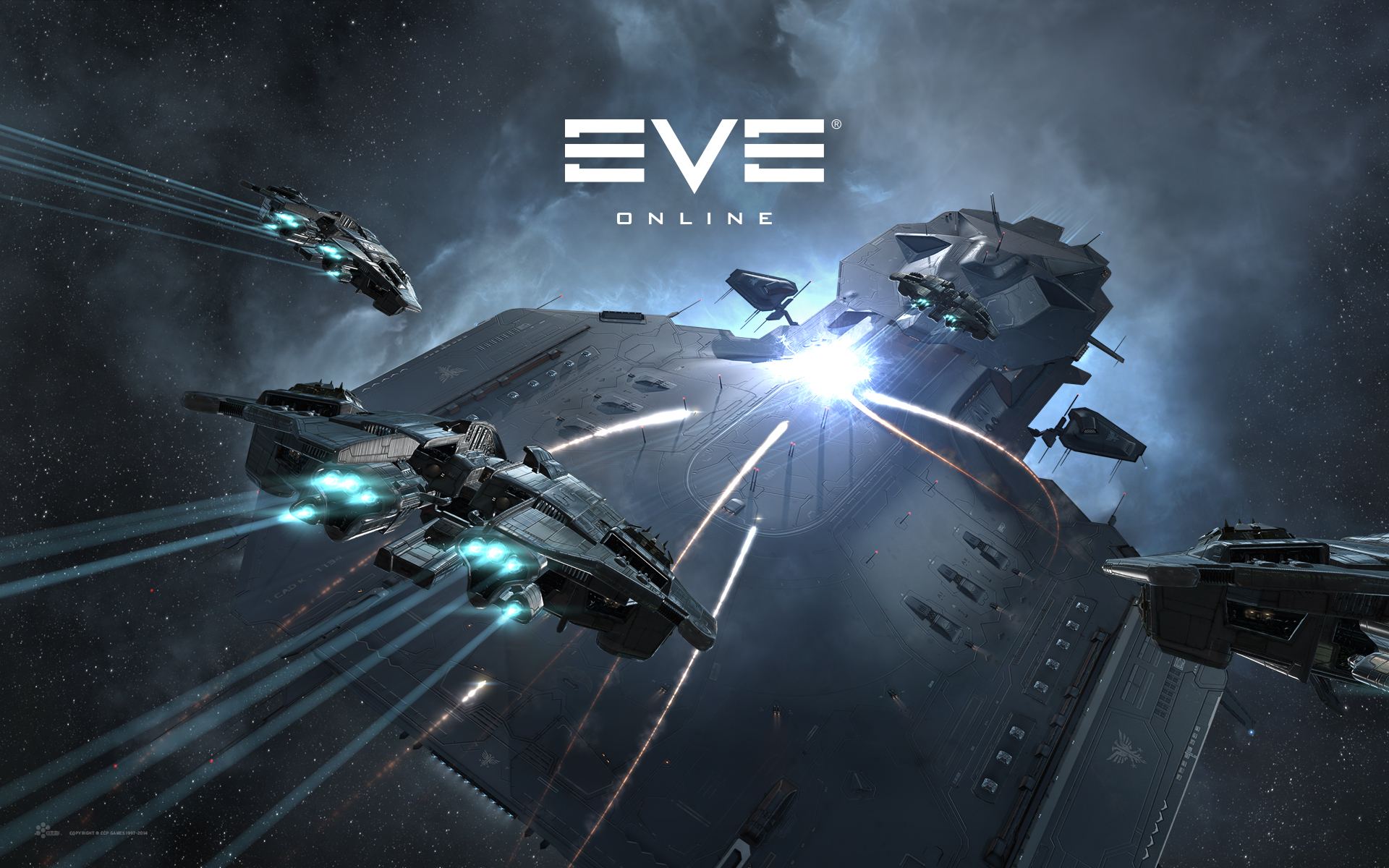 Stealth Bomber Attack   Wallpapers   EVE Online 1920x1200