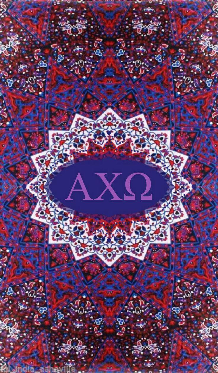 Alpha Chi Omega kaleidoscope iPhone monogram background 736x1258