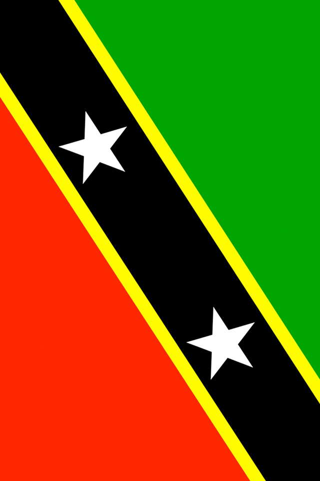 Saint Kitts and Nevis Flag iPhone Wallpaper HD 640x960