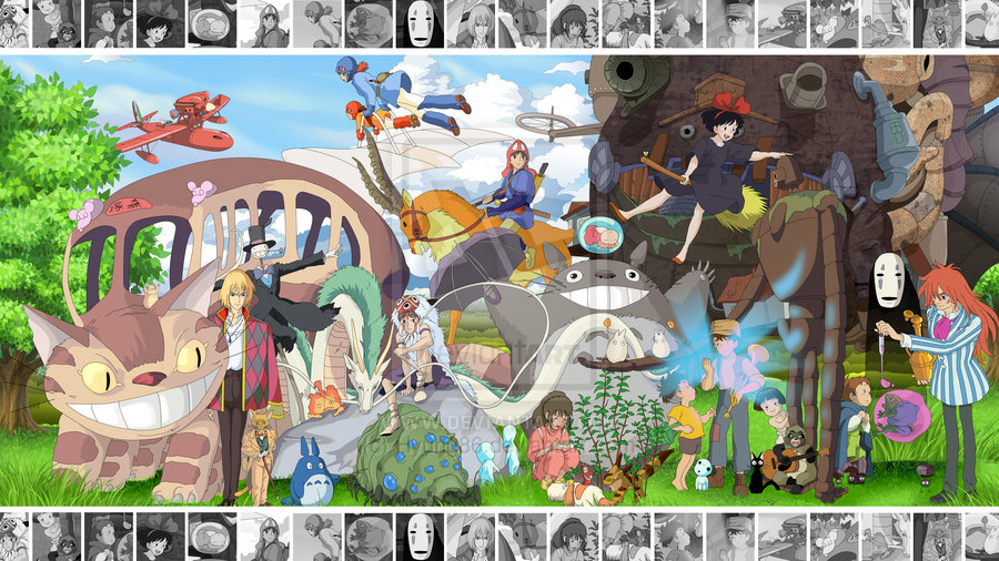 The Art of Ghibli   Wallpaper Edition by Hyung86 900x506