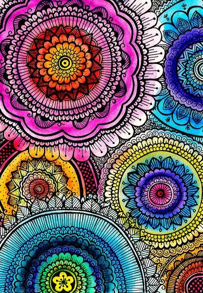 mandala mandalas mica gaggiano pink prints roses wallpaper 400x577