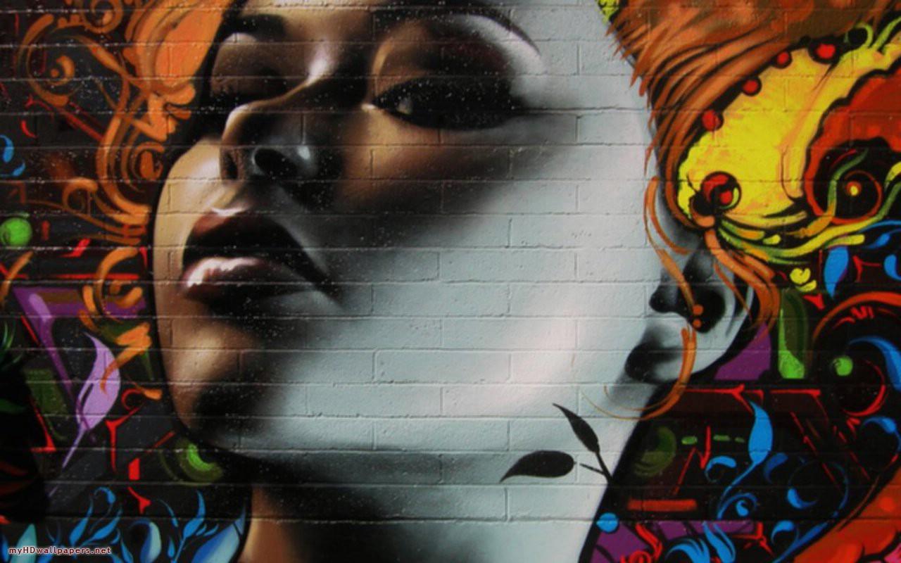 Cool Graffiti Cartoon Wallpaper for Desktop New Style Graffiti 1280x800