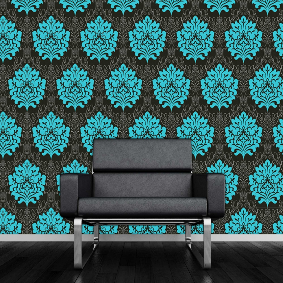 Black and teal wallpaper wallpapersafari for Teal wallpaper