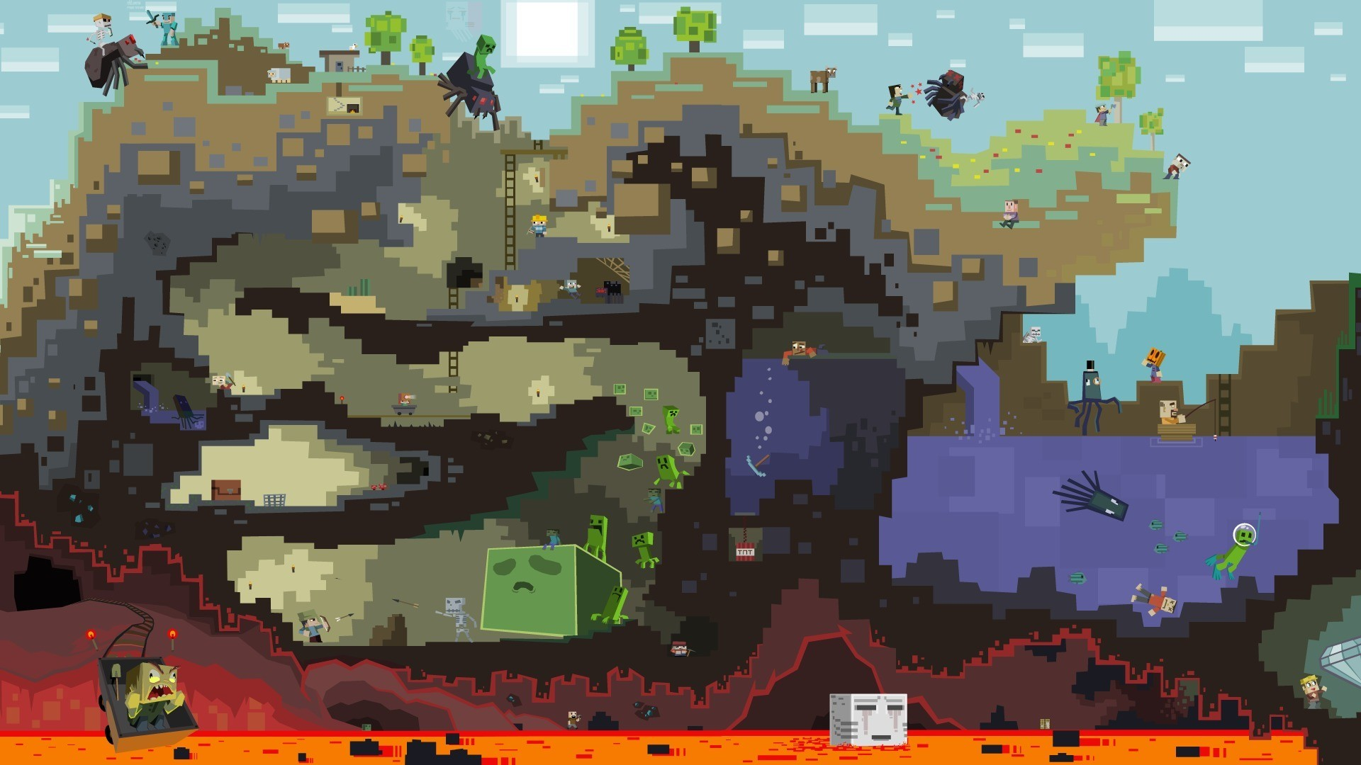 Epic Minecraft Backgrounds 72 images 1920x1080