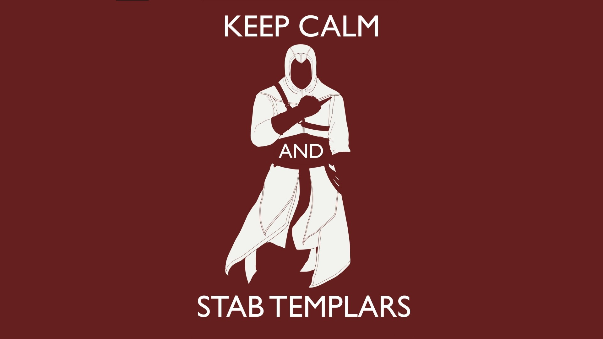 keep calm and stab templars assassins creed wallpaper shiftwallpapers 1920x1080