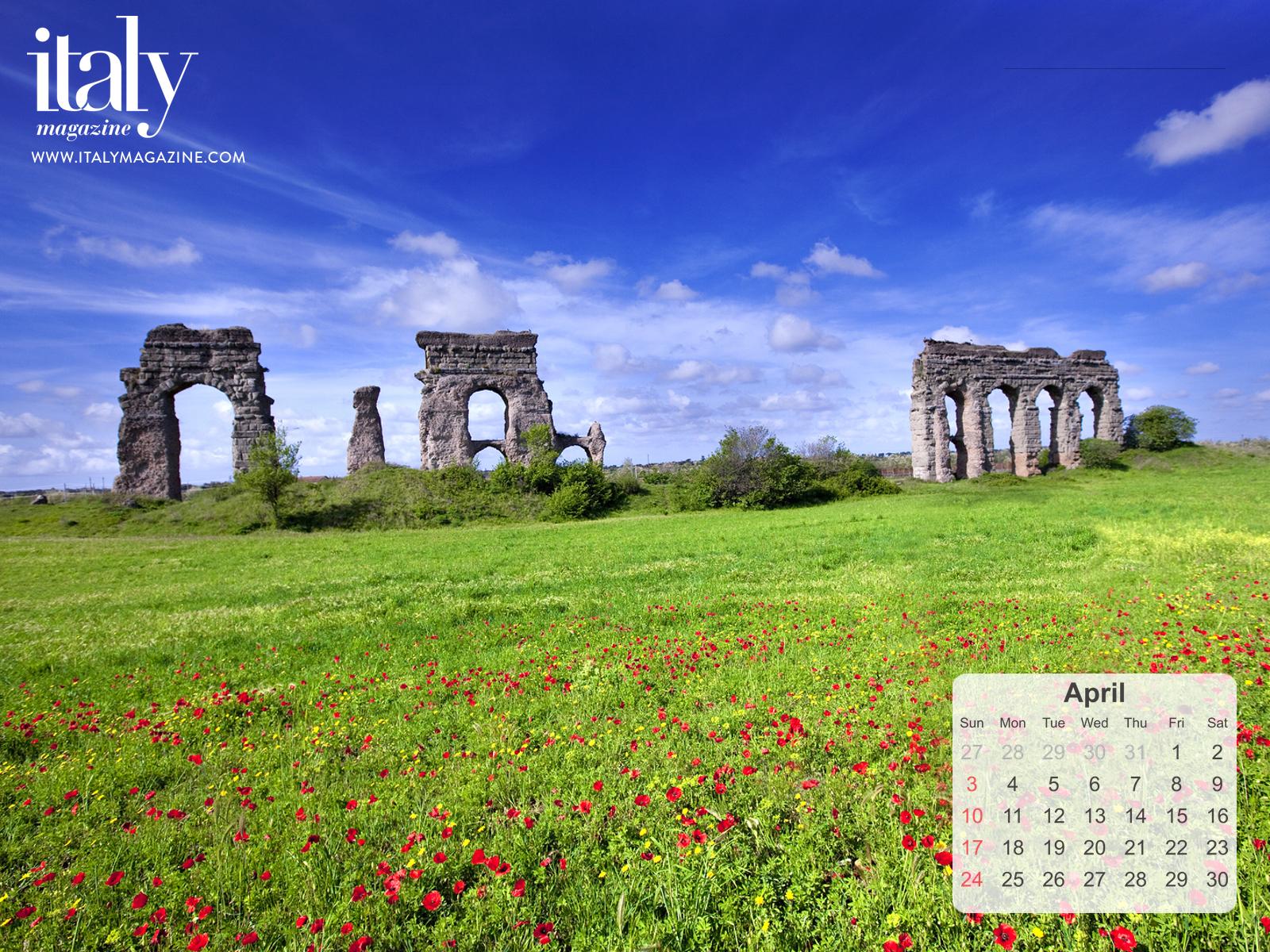Wallpaper Calendar   April 2016 ITALY Magazine 1600x1200