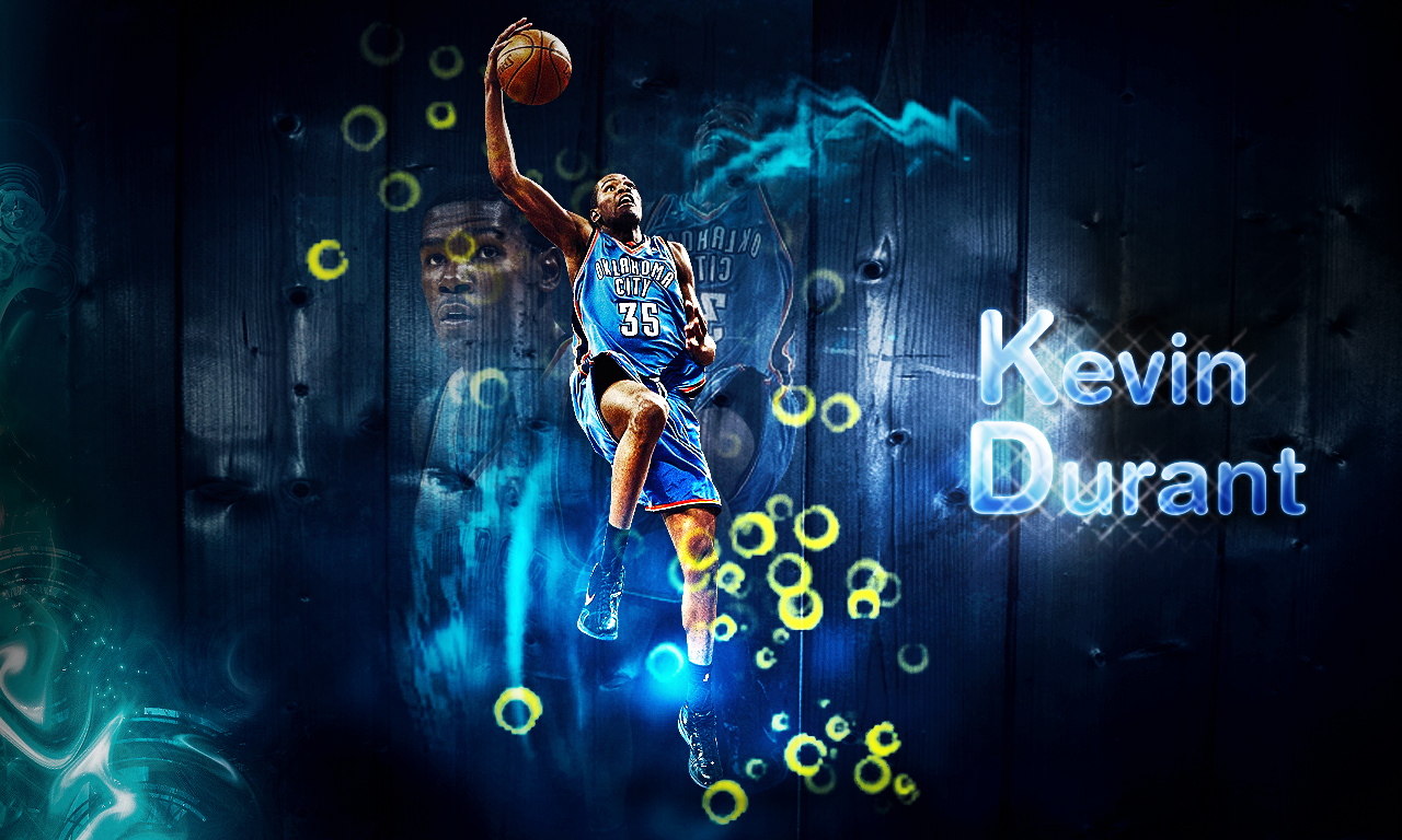 Kevin Durant with Wood Background by NerKa23 1280 x 768 1280x768