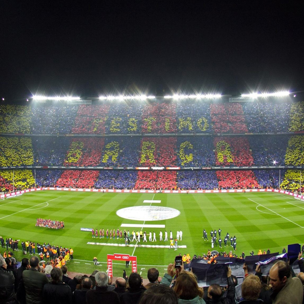 Barcelona Football Stadium 2 Ipad Wallpapers 1024x1024