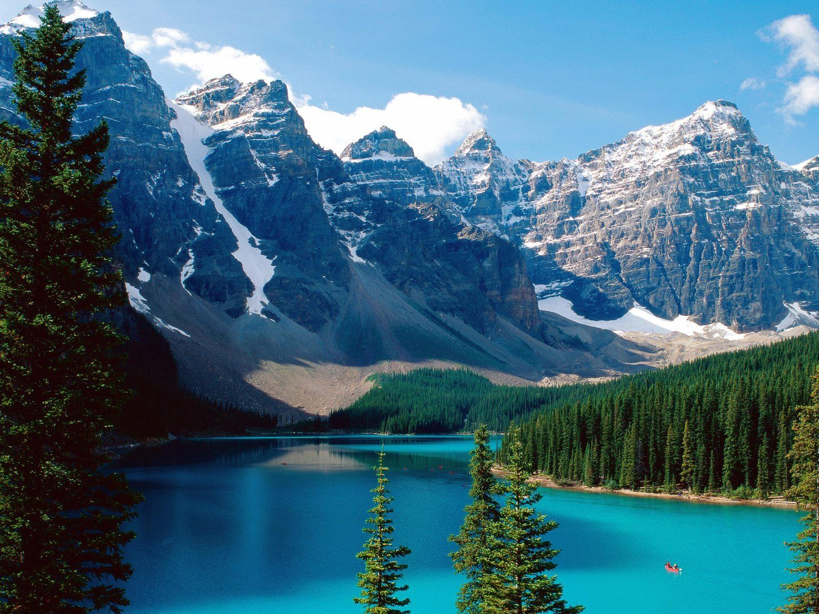 Top Wallpapers   Download Top Moraine lake Canada wallpaper 1600x1200