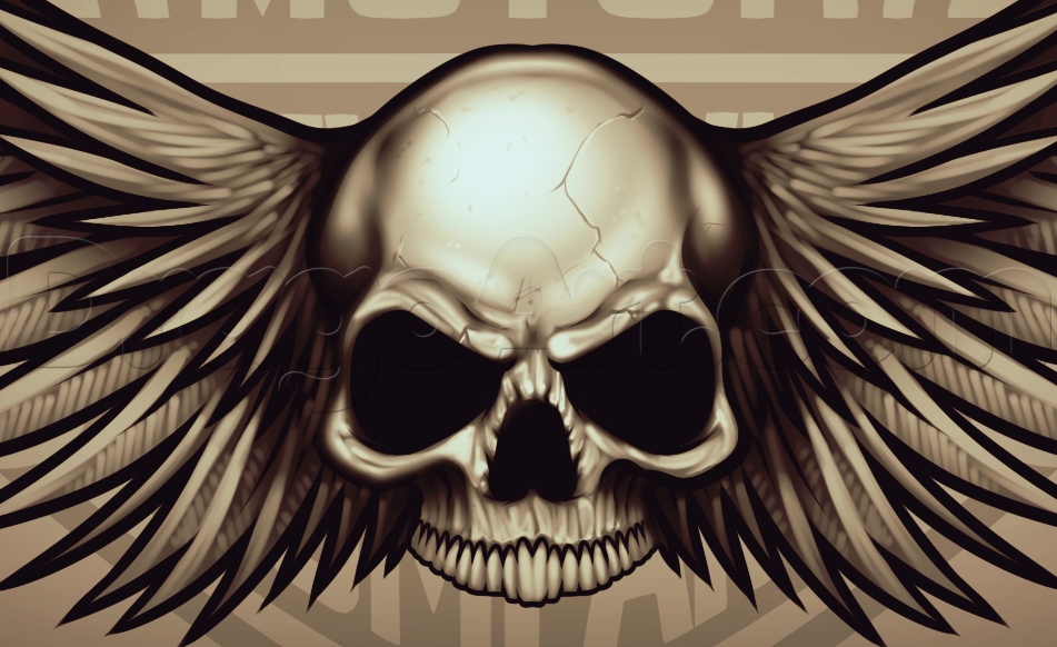 Harley Davidson Skull And Wing Tattoos How to draw a harley davidson 951x582
