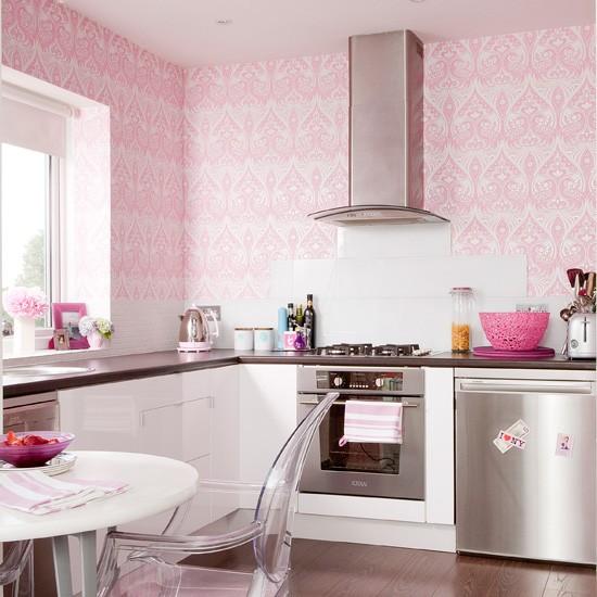 girlie kitchen wallpaper Kitchen wallpaper ideas Kitchen wallpaper 550x550