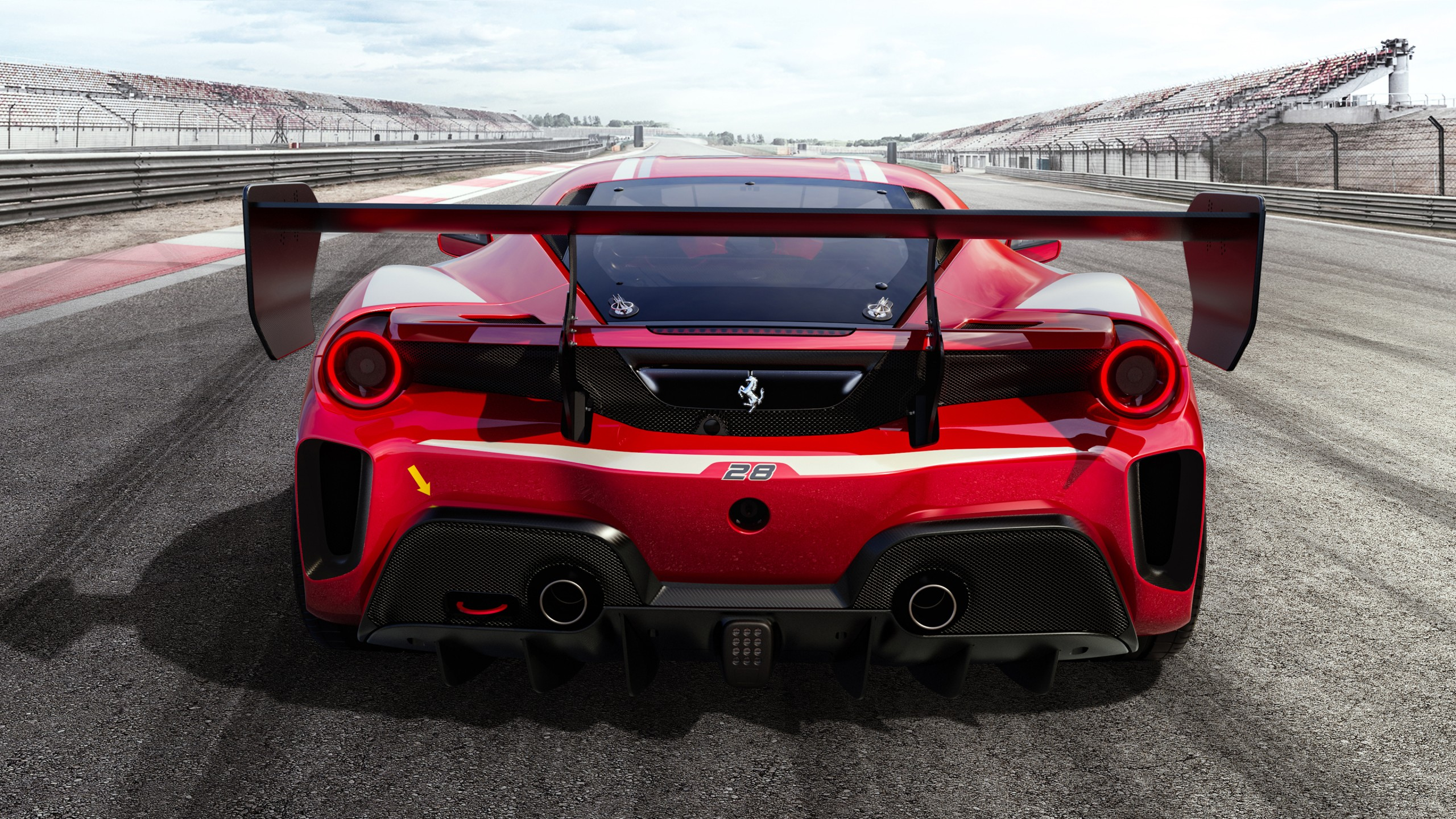 Ferrari 488 Challenge Evo 2020 4K 2 Wallpaper HD Car Wallpapers 2560x1440