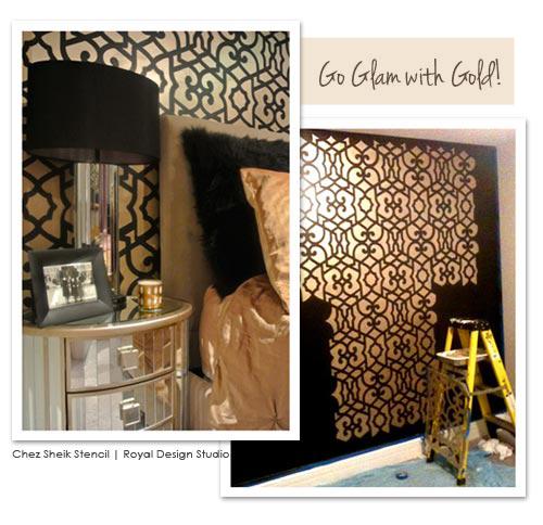 Wall Furniture Stencil Project Ideas Royal Design Studio 500x484