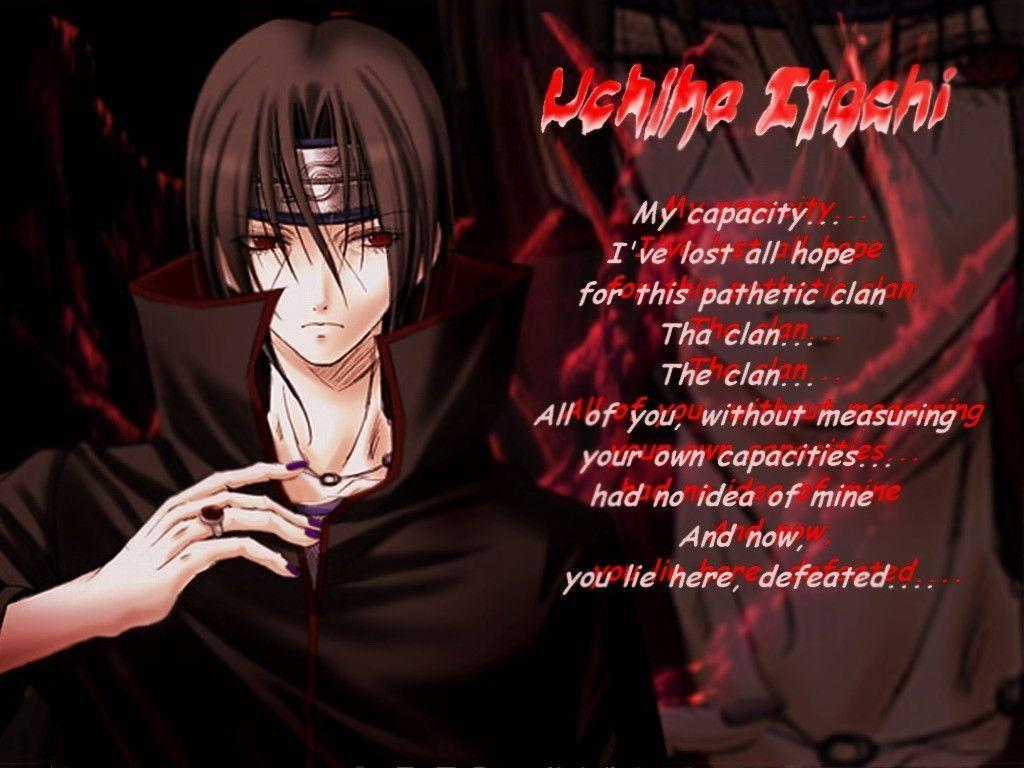 Itachi Quotes Wallpapers   Top Itachi Quotes Backgrounds 1024x768
