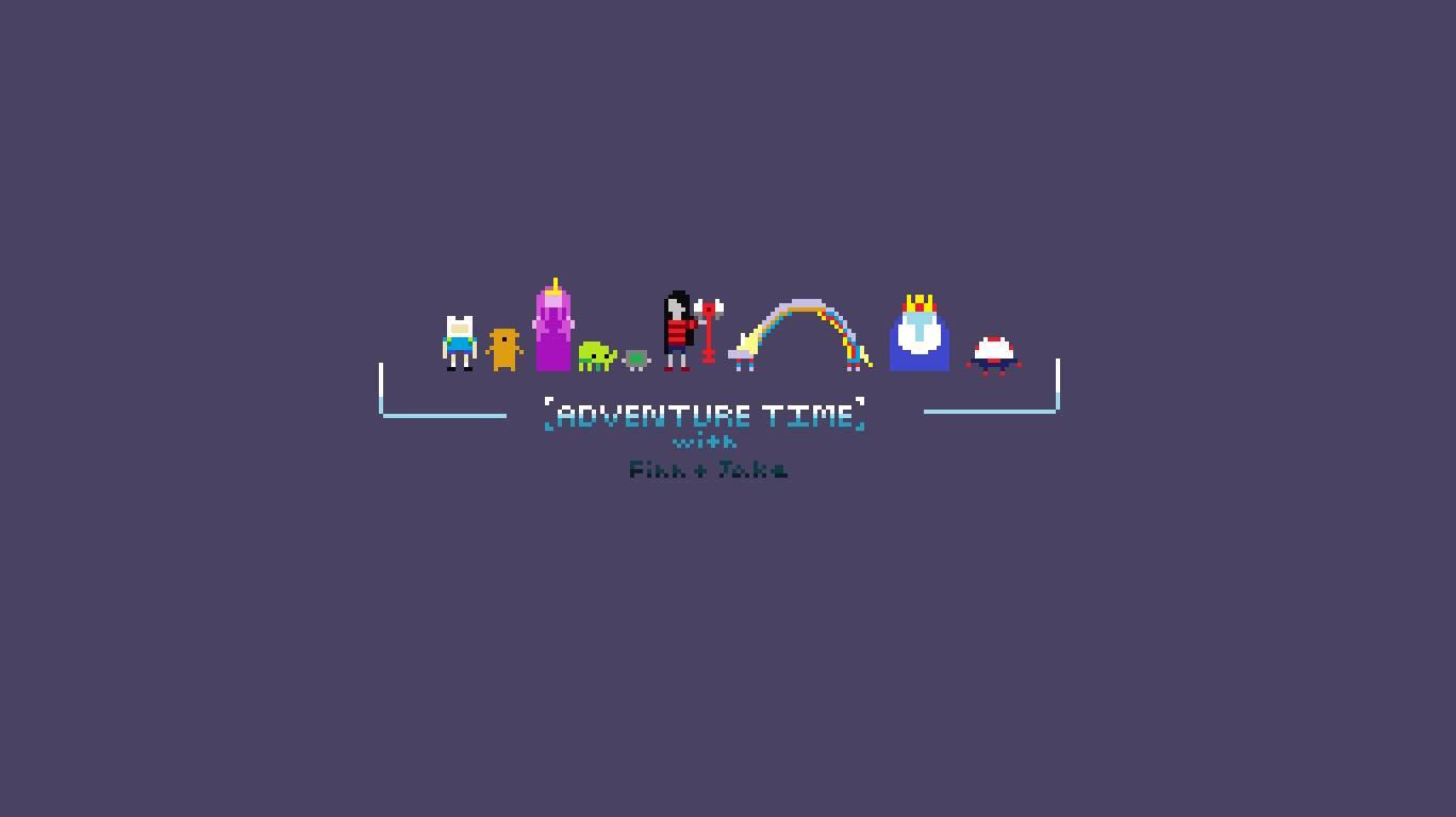 adventure time 8 bit   Adventure Time Wallpaper 1368x768