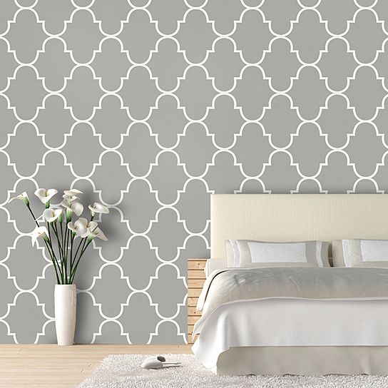 46 Gray Lattice Wallpaper On Wallpapersafari