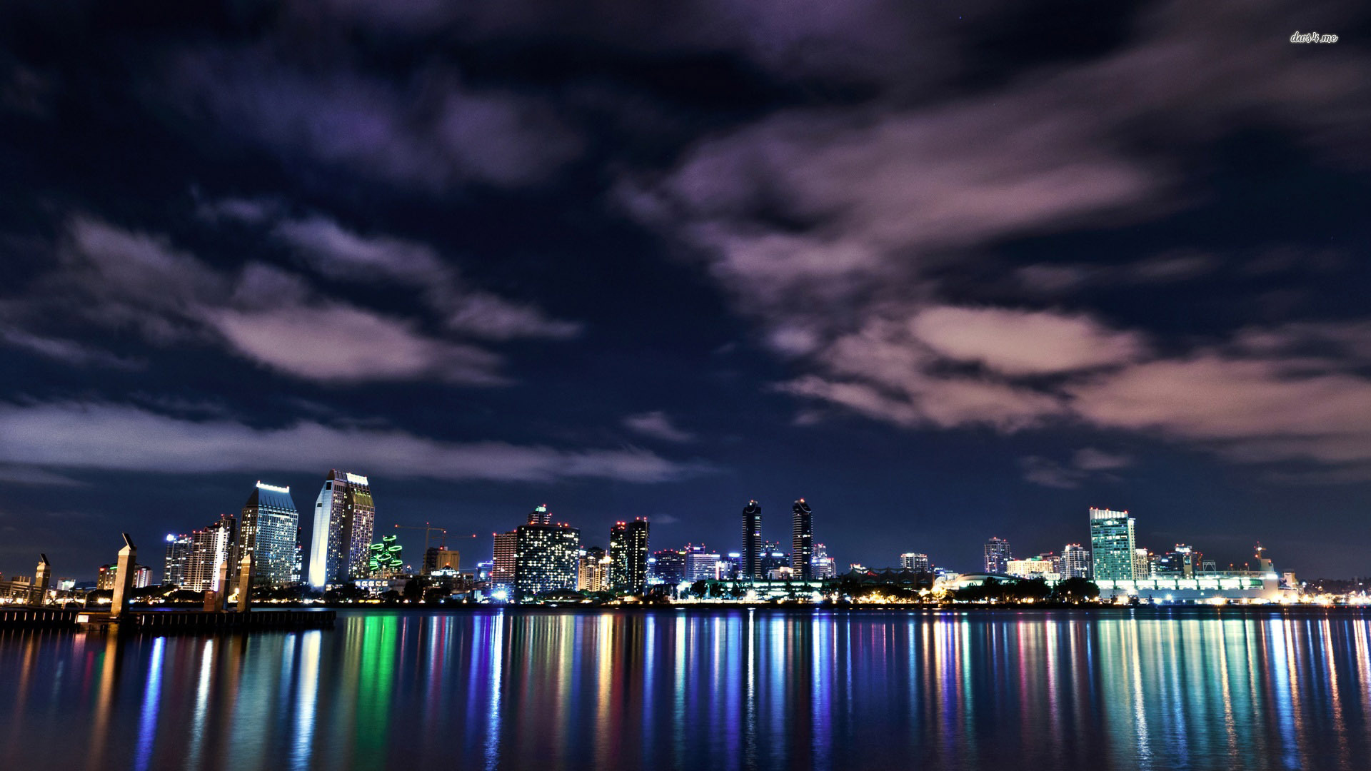 San Diego Skyline HD wallpapers 1920x1080