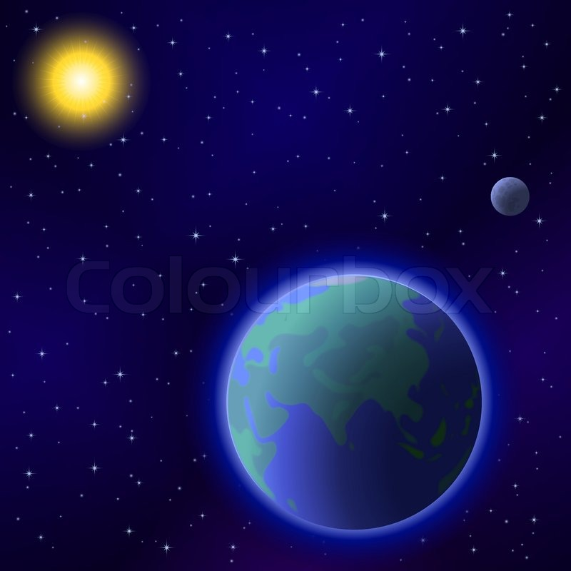 Worksheets Sun Moon And Stars sun moon stars wallpaper wallpapersafari vector of space background planet mother earth and stars