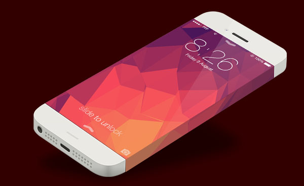 Iphone 6 Psd Template For Photo 600x368